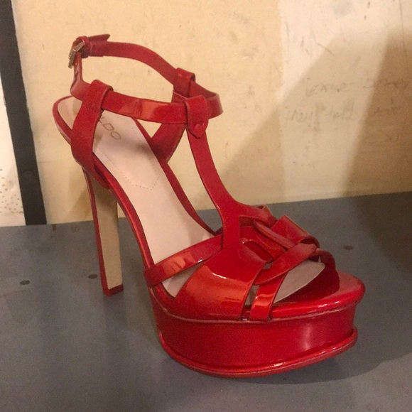 58f68cba07c ALDO Red Chelly Platform Dress Sandals